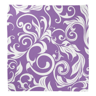 Pretty Violet Purple Floral Wallpaper Pattern Bandana
