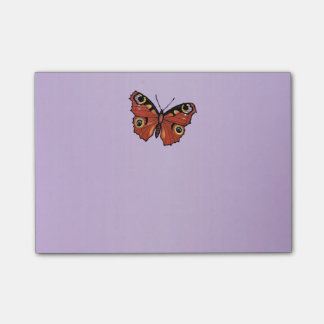 Pretty Vivid Monarch Butterfly Purple Post-it Notes
