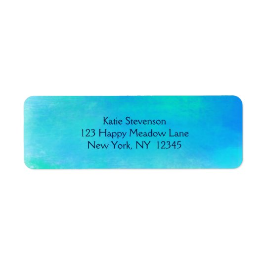 Pretty Watercolor Abstract In Aqua Green and Blue