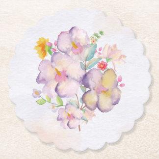 Pretty Watercolor Bouquet (1) All Options Paper Coaster
