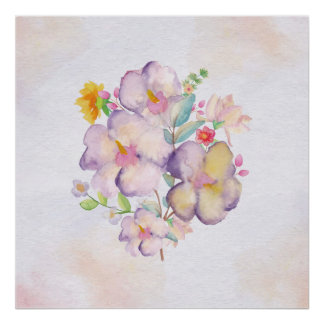 Pretty Watercolor Bouquet (1) Poster