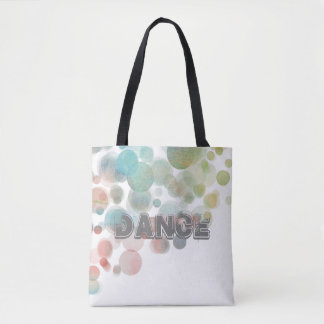pretty watercolor dance tote bag abstract