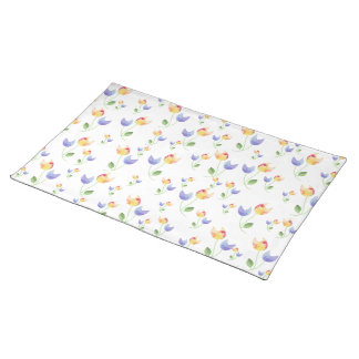 Pretty Watercolor Flowers Pattern Placemat