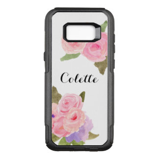 Pretty Watercolor Pastel Floral OtterBox Commuter Samsung Galaxy S8+ Case