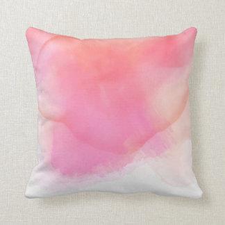 Pretty Watercolor Pinks & Corals - All Fabrics Cushion