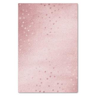 Pretty Watercolor Unicorn Pink & Rose Gold Accents Tissue Paper