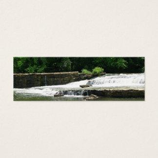 Pretty Waterfall Bookmark Mini Business Card