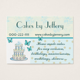 Pretty Wedding Cake Bakery Business Card
