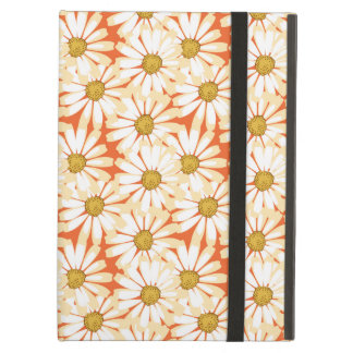 Pretty White Daisies Floral Pattern Case For iPad Air