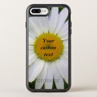 Pretty white daisy floral photo art OtterBox symmetry iPhone 7 plus case