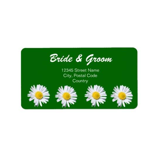 pretty white daisy flowers address label