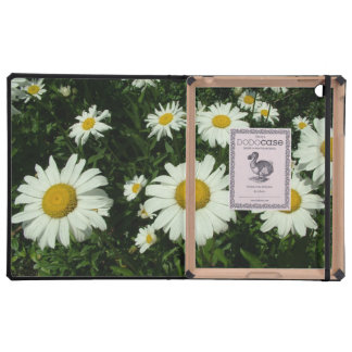 pretty white daisy flowers. iPad covers