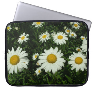 pretty white daisy flowers. laptop sleeves