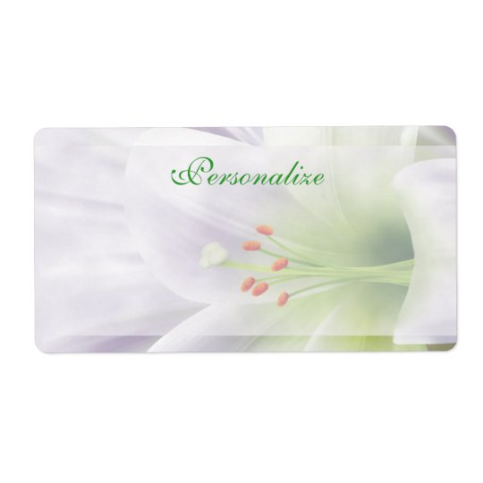 Pretty White Easter Lily Labels