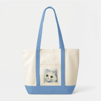 Pretty White Kitten Tote Bag