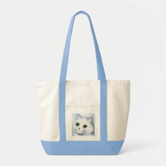 Pretty White Kitten Tote Bag