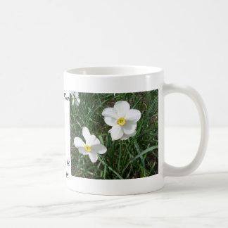 Pretty White Spring Flowers CricketDiane Basic White Mug
