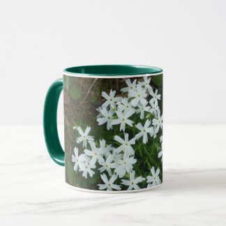 Pretty White Starlike Flowers Mug