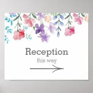 Pretty Wildflowers | Garden Wedding Reception Sign Poster