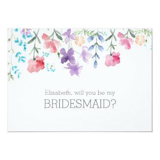Pretty Wildflowers | Rustic Bridesmaid Invitation