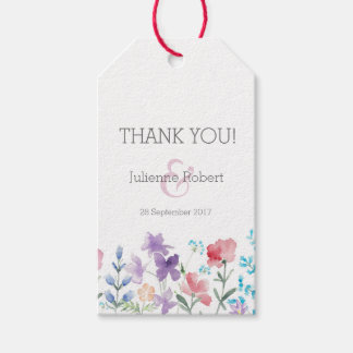 Pretty Wildflowers | Rustic Wedding Favour Tag