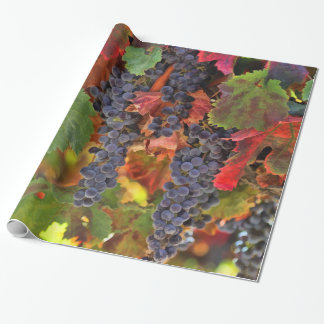 Pretty Wine Grape Vineyard Wrapping Paper
