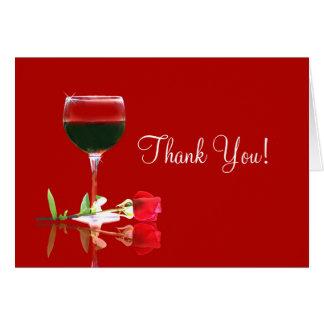 Pretty Wine Thank You Card, Much Appreciated Card