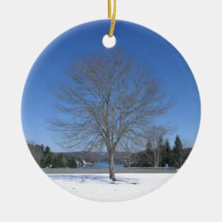 Pretty Winter Tree Christmas Ornament