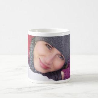 Pretty woman winter portrait coffee mug