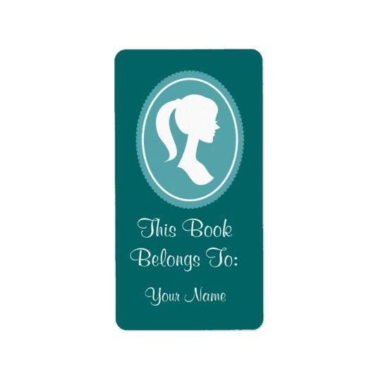 Pretty Womens Silhouette Bookplates Stickers Gift