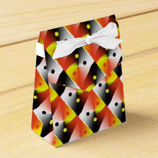 Pretty Yellow and Red Favour Box