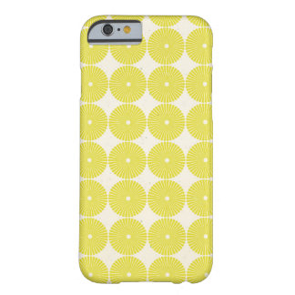 Pretty Yellow Circles Summer Citrus Textured Disks Barely There iPhone 6 Case