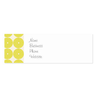 Pretty Yellow Circles Summer Citrus Textured Disks Pack Of Skinny Business Cards