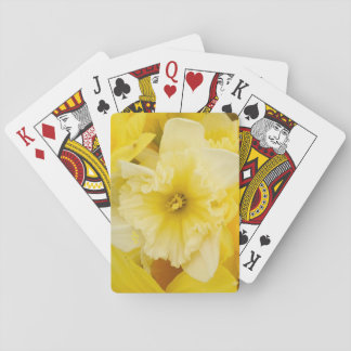 Pretty Yellow Daffodil Flowers Poker Deck