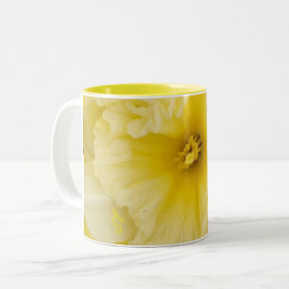 pretty Yellow Daffodil Flowers Two-Tone Coffee Mug