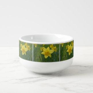 Pretty Yellow Daffodil Soup Mug