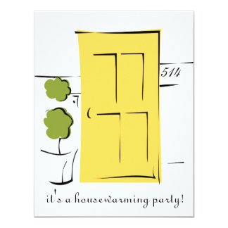 Pretty Yellow Door 11 Cm X 14 Cm Invitation Card