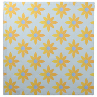 Pretty yellow floral cloth napkins