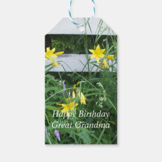 Pretty Yellow Flowers Gift Tags