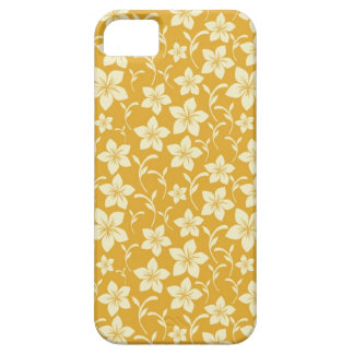 Pretty Yellow Gold Floral Pattern Spring Autumn Case For The iPhone 5