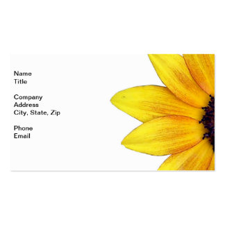 Pretty Yellow Orange Sunflower of 2014 Business Card Templates