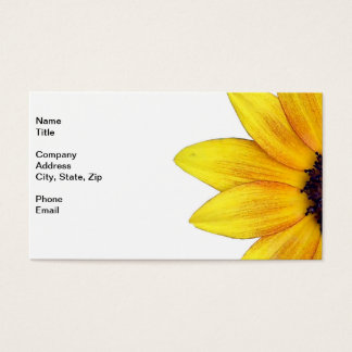 Pretty Yellow Orange Sunflower of 2014 Business Card
