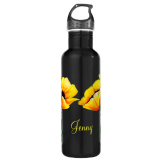 Pretty Yellow Poppies 710 Ml Water Bottle