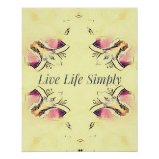 Pretty Yellow Rose Lifestyle Quote Poster