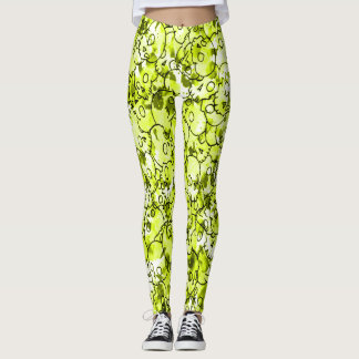 Pretty Yellow Skulls Leggings