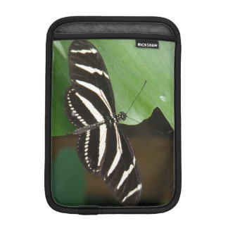 Pretty Zebra Longwing Butterfly iPad Mini Sleeve