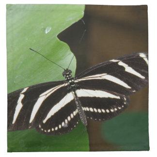Pretty Zebra Longwing Butterfly Napkin
