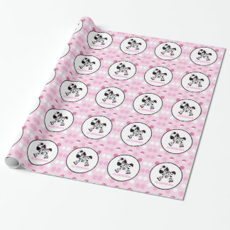Pretty Zebra Pink Dot Customizable Wrapping Paper