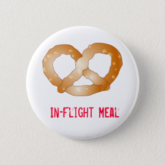 pretzel, In-Flight Meal 6 Cm Round Badge