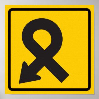 Pretzel Loop Highway Sign Posters